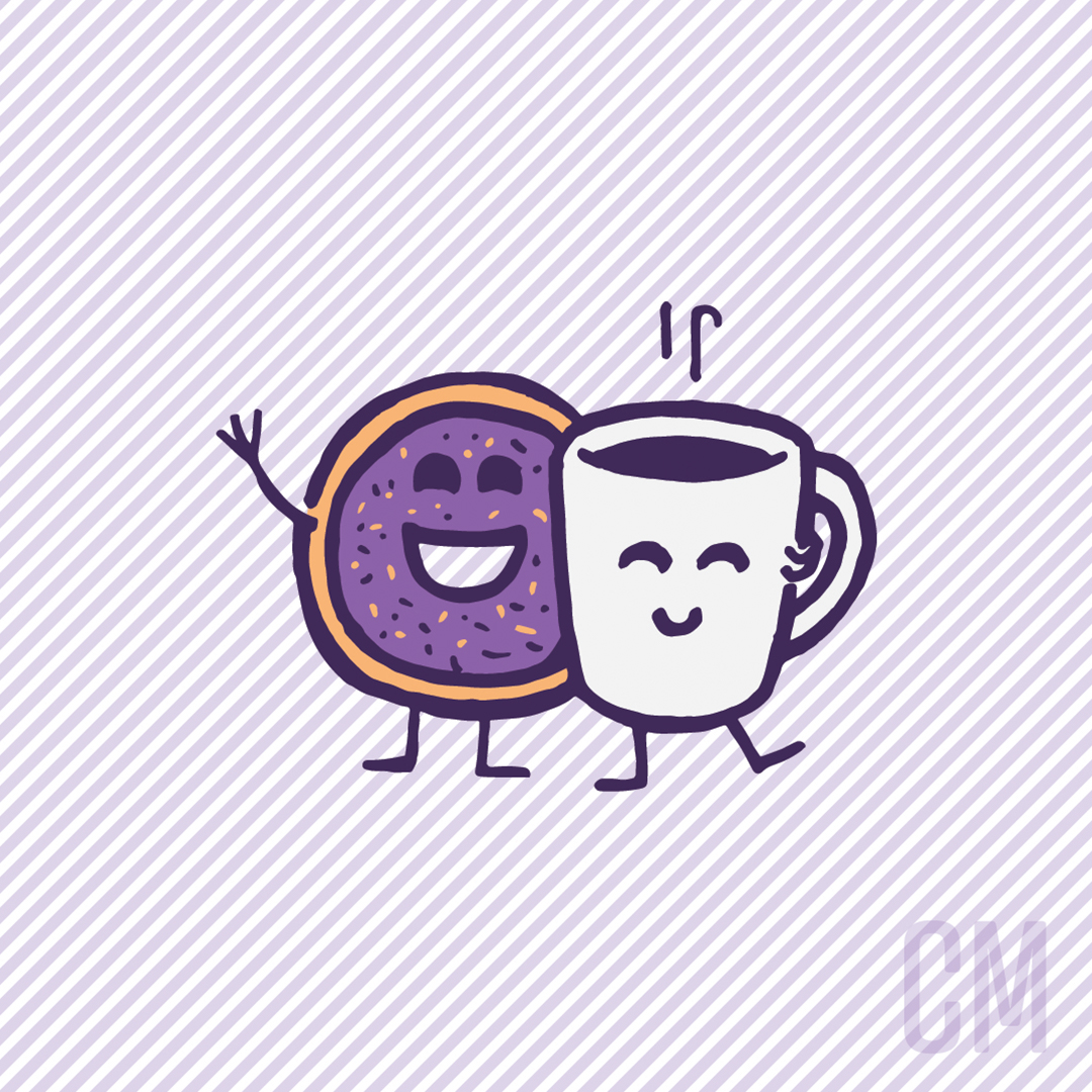 smiling mug and donut final artwork