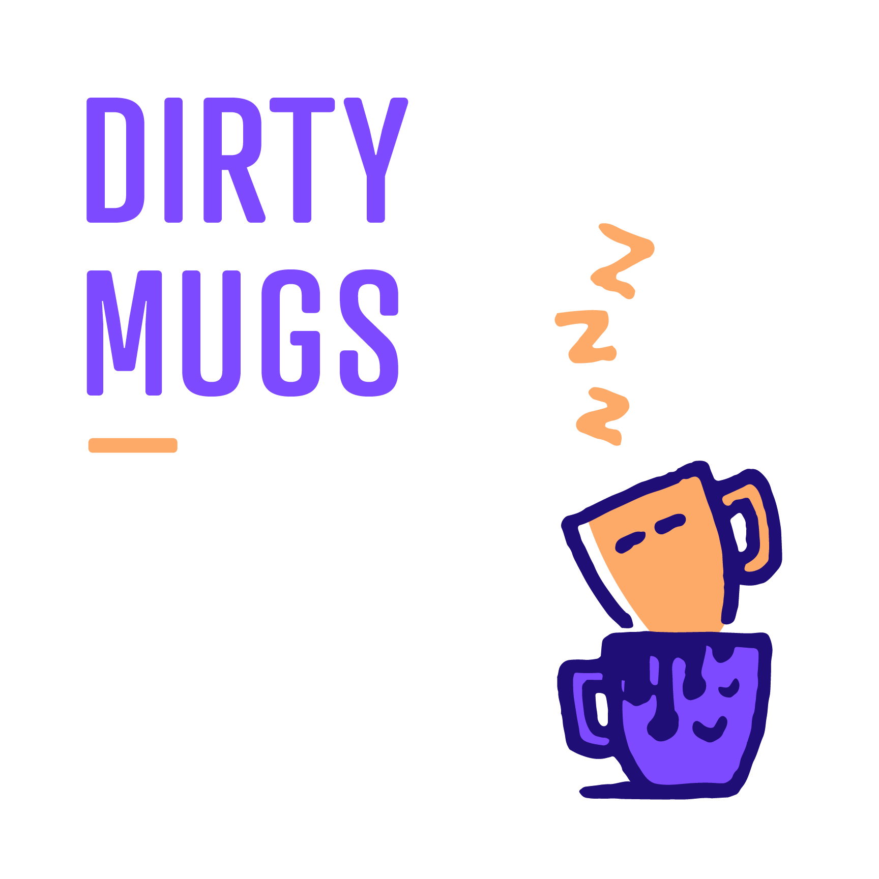 dirty mugs signage