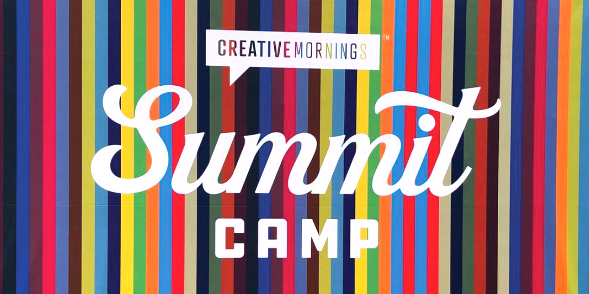 CreativeMornings Summit Camp banner